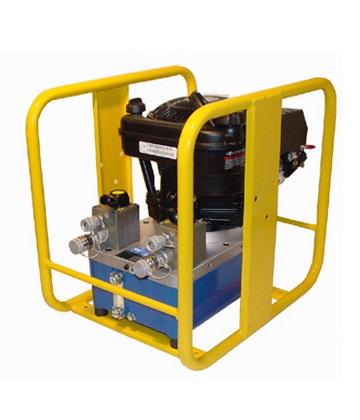 Máy bơm động cơ kép chạy bằng xăng/dầu