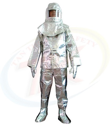 Quần áo cách nhiệt tráng nhôm 500 độ