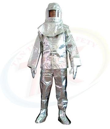 Quần áo cách nhiệt tráng nhôm 1000 độ